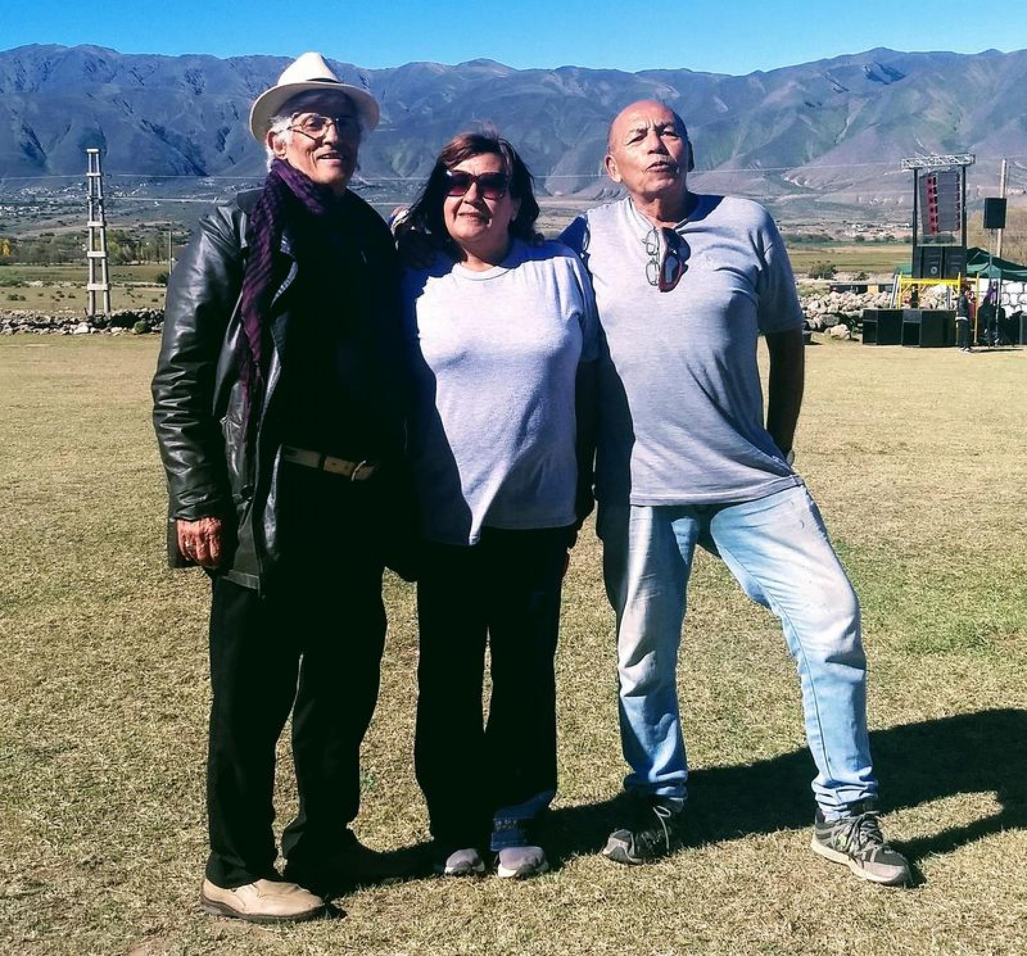 Carlos Kanan, Sonia Saavedra y Elio (Tito) Ceballos Paz