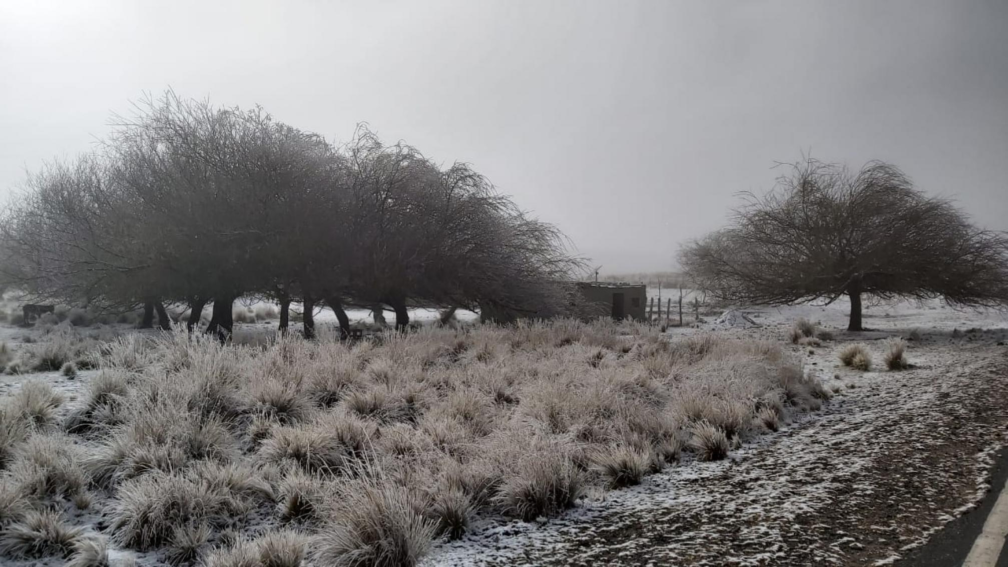 Sorpresiva nevada en el valle pinta los cerros de blanco - Tafí del Valle