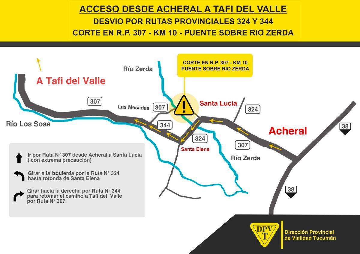 Acceso desde Acheral a Tafí del Valle